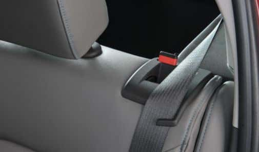 Folding Rear Seats 1. Make sure the safety belt is in the retainer hook. 2. Pull
