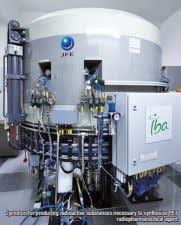 Cyclotron for producing radioactive substances necessary to synthesize PET radiopharmaceutical agent