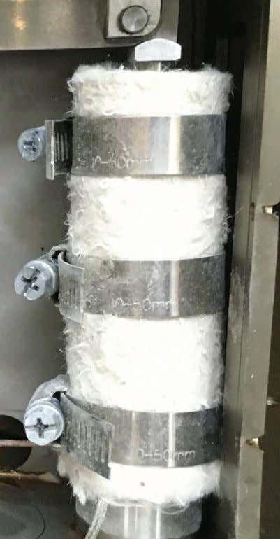 FigUre 7 | Photograph of the piezostack actuator with the heat insulation .