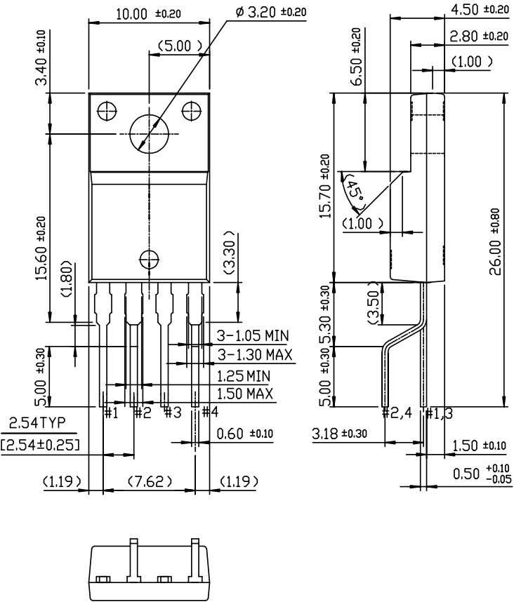 KA5X03XX-SERIES Package Dimensions (Continued) TO-220F-4L(Forming) 17