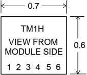 0.7 TM1H VIEW FROM 0.6 MODULE SIDE 1 2 3 4 5 6