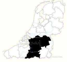 (with Tilburg in the north, Antwerp, Hofstade in the south) Most dialects which are spoken in