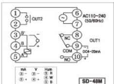 Connection Diagram) SD-48M External Dimension 48*48*117 Panel Dimension 45*45(+0.6) (SD-48M Connection Diagram) 1p