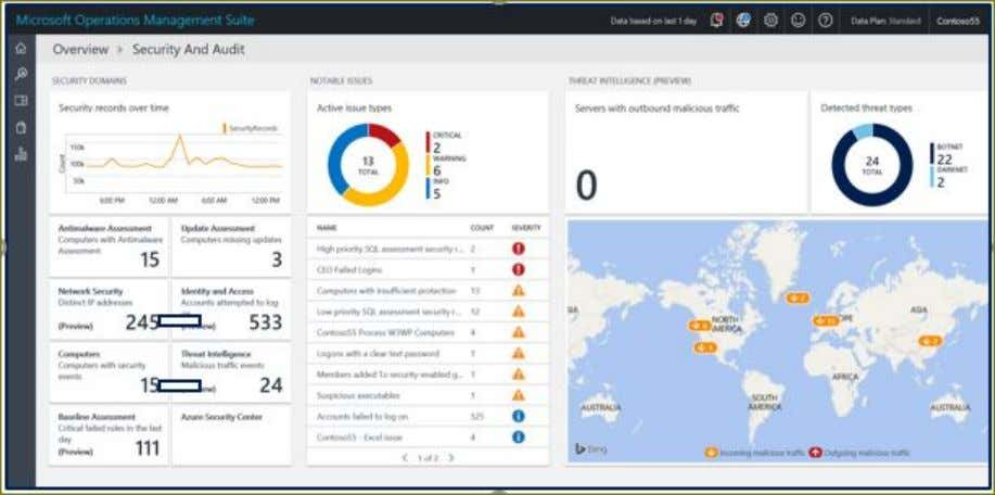to streamline the security and compliance audit processes. The Log Analytics Security and Audit dashboard is