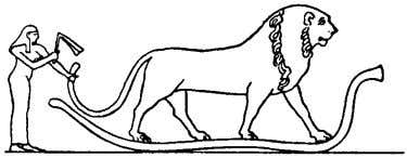 zodiacal signs for the ages of the Ram, Bull and Lion Opening of the Mouth with