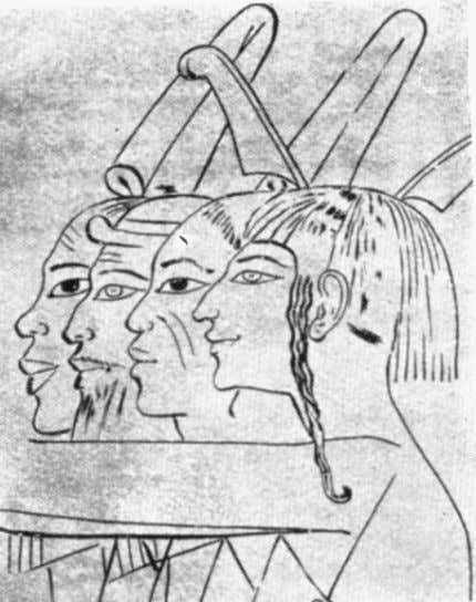"Ancient Egyptians, but rather, unknown ""Abyssinians."" Plate 4: Ancient Egyptian Depiction of Ethnic Groups (New"