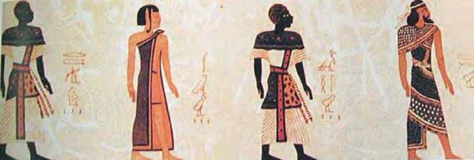 Egyptians and Nubians depicted in the Tomb of Rameses III Rtji Ancient Egyptian Ahsu Ancient Nubian