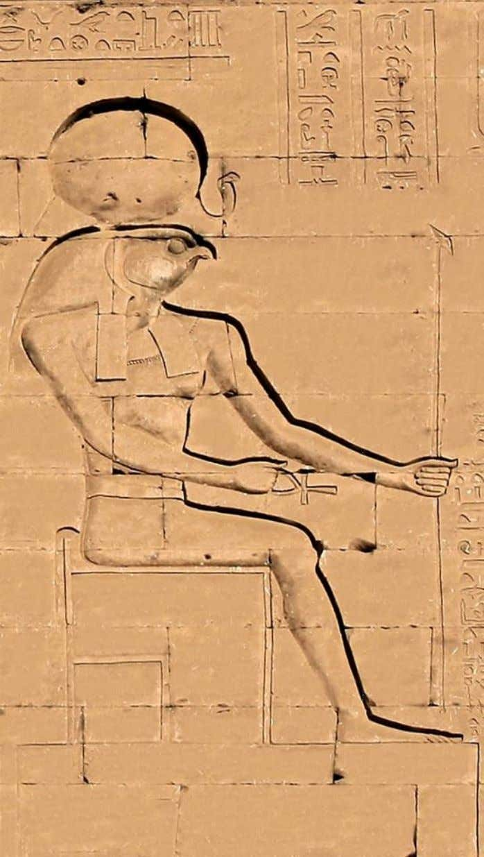 Temple of the God Horus at Bedhet (Edfu), detail from the eastern tower of the