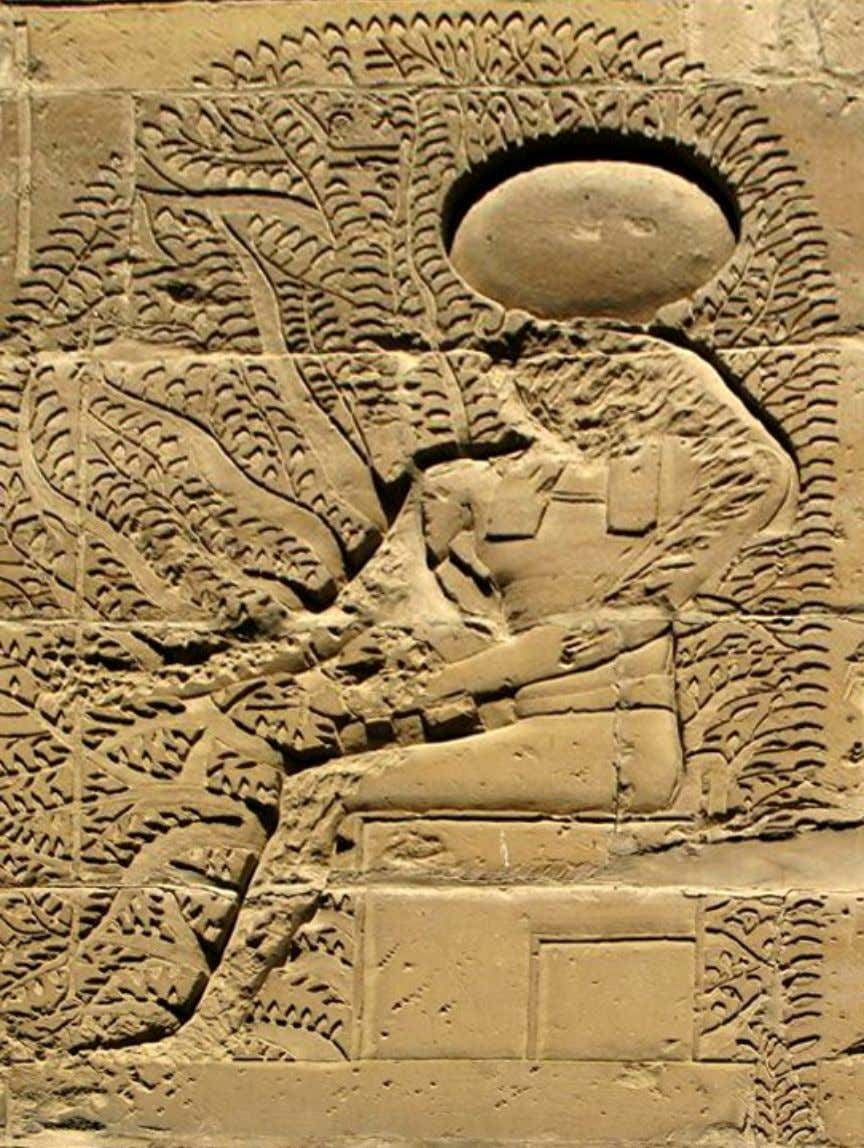 Temple of the God Horus at Behdet (Edfu), detail from the Girdle Wall, inner face,