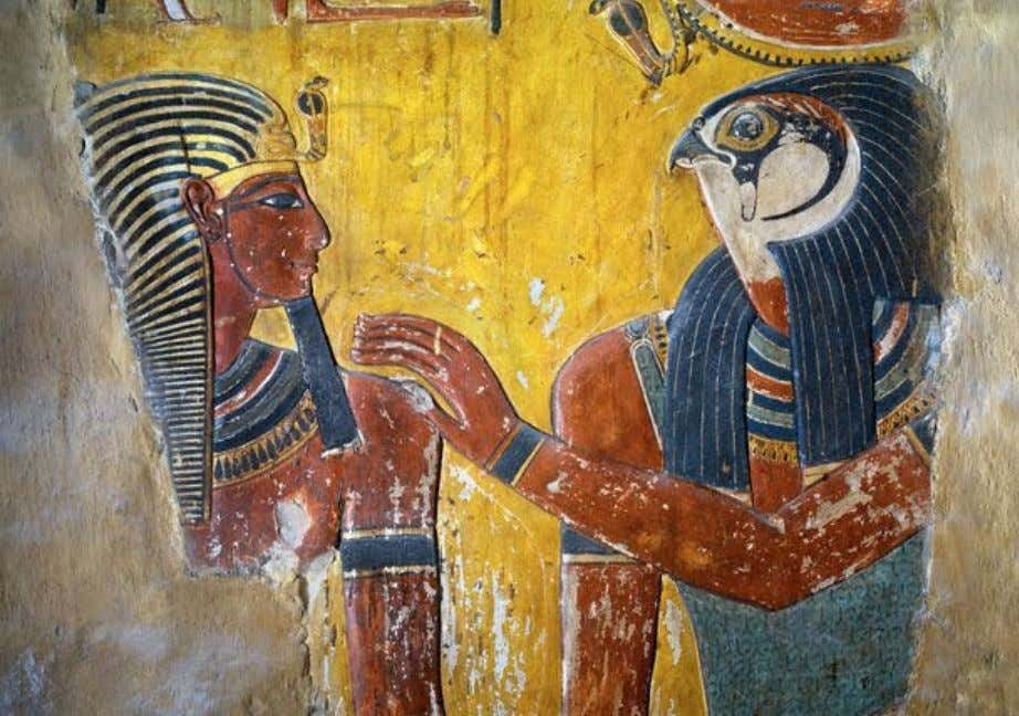 "Detail from the ""House of Eternity"" of King Sethi I, Valley of the Kings (KV"