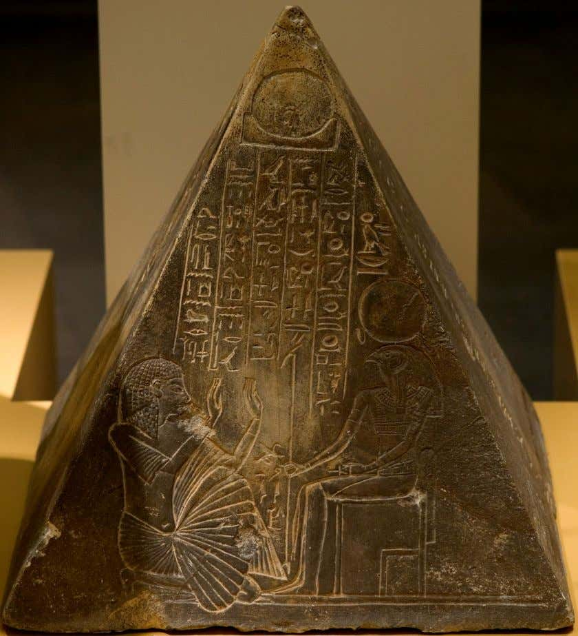 The Pyramidion of the King's writer Pawty from the necropolis of Saqqara; XIX Dynasty, now