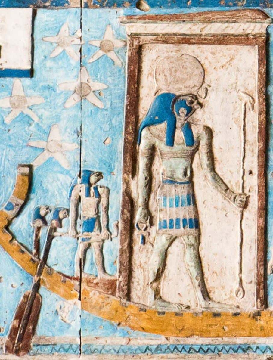 Temple of the Goddess Hathor at Nitentore (Dendera), ceiling of the Hypostyle Hall, second band