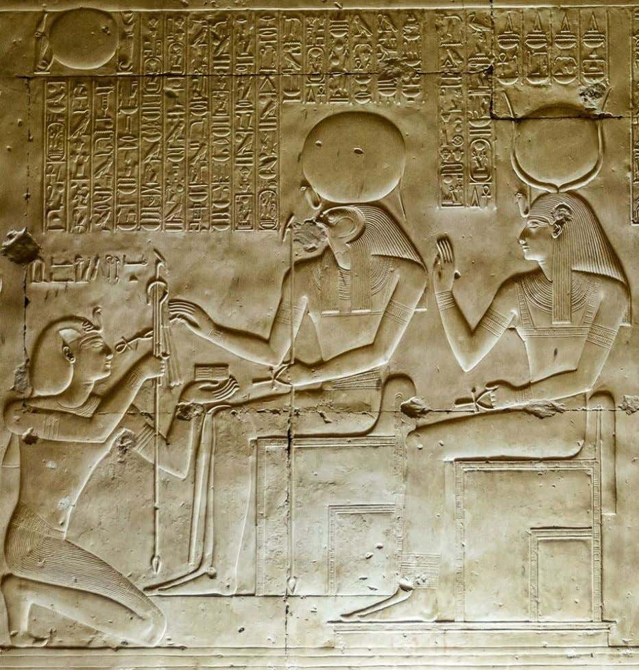 """Great Temple"" of King Sethi I at Abydos, south-west wall of the Chapel of Ra-Harakhty:"