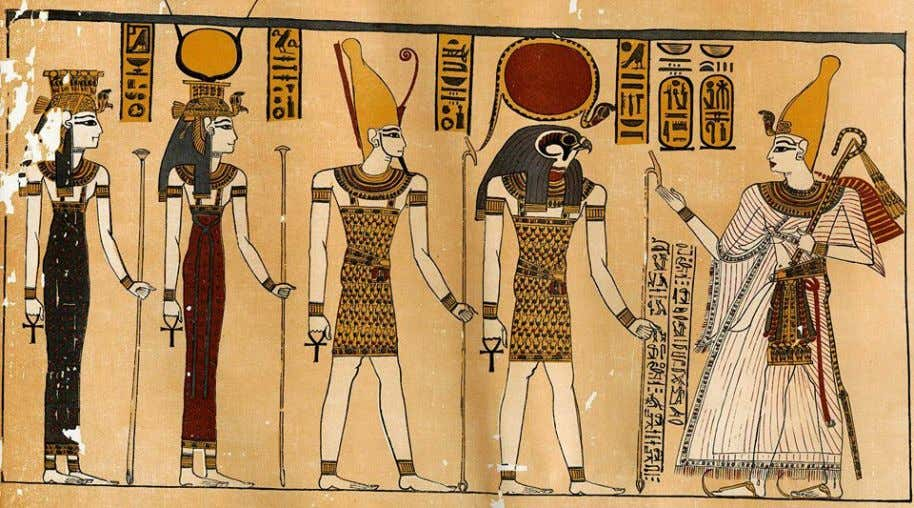 "Scene from the ""Great Harris Papyrus"", 1150 BCE; now in the British Museum… King Ramses"