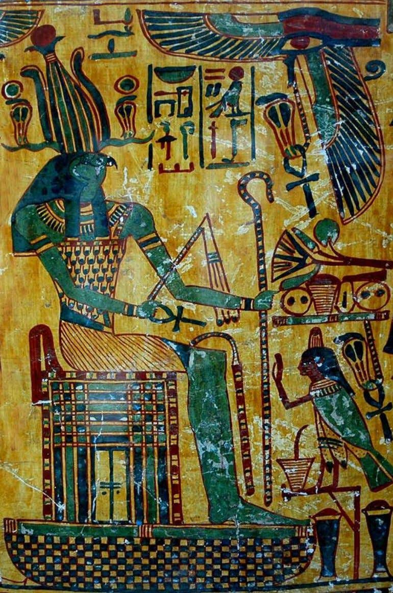 Detail from the outer coffin of Taywheryt, wife of the High Priest of Amon-Ra at