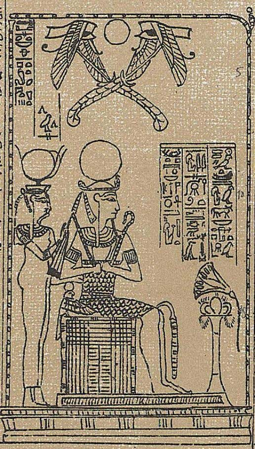 Scene from the Luynes papyrus of SerAmon, priest of Amon at 'Uaset'-Thebes, XXI Dynasty; now