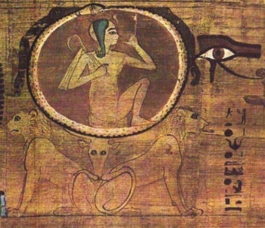 Detail from the Papyrus of Lady Heruben, XXI Dynasty; now in the Cairo Museum. Ra
