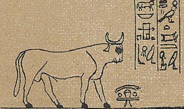 "Detail from the ""Luynes papyrus"" of SerAmon, priest of Amon at 'Uaset'-Thebes, XXI Dynasty; now"