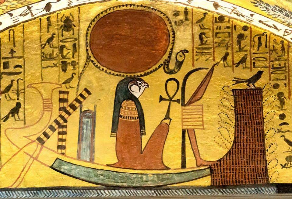 "Scene from the ""House o Eternity"" (TT1) of Sennedjem, ""Servant in the Seat of Righteousness"