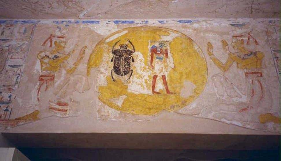 Isis (at left) and Nephthys (at right) making adorations Scene from the Entrance Gate of the
