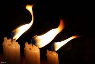YHVH's light down into this world without the vulnerability of being a candle light subject to