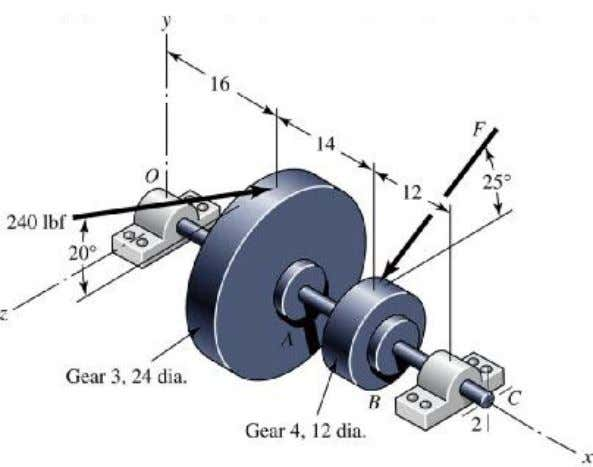 bearing pair of 0.95. Select the bearings from Table 11-2. Figure P11-13 Dimensions in inches. Solution