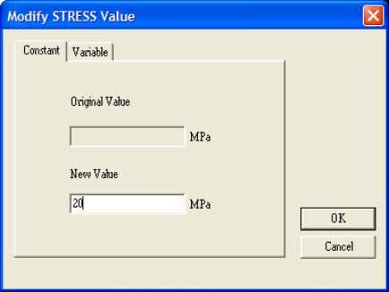 Constant Change the value as shown in the Figure below Click…Loads….SelectionMode…Pick on Geometry Click