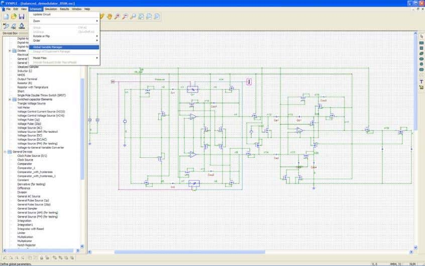 Bsim s' in the circuit. Note : To define Global variables: Click…Schematic…Global Variable Manager Click…Add 87