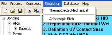 menu and choosing the ThermoElectroMechanical menu entry. Figure 4 Export to the TEM module Save the