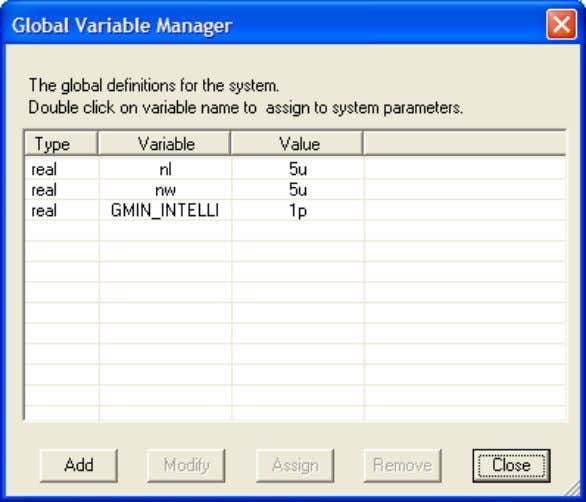 Define the value and the variable name Click…OK…Close Bsim simulation contd… Double click on the