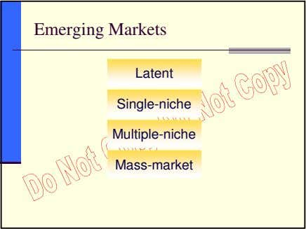 Emerging Markets Latent Single-niche Multiple-niche Mass-market
