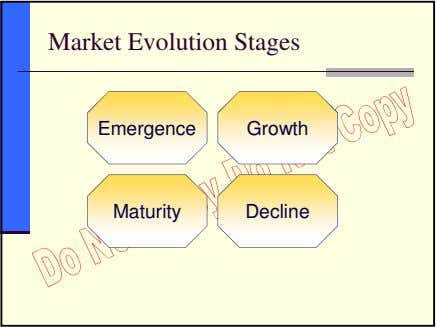 Market Evolution Stages Emergence Growth Maturity Decline
