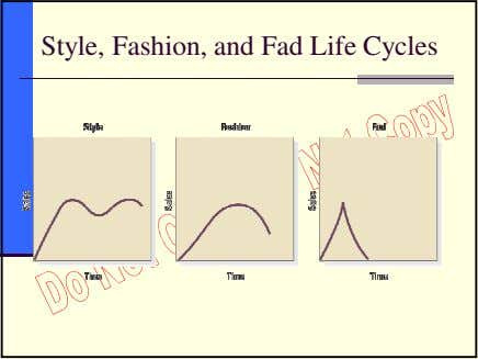Style, Fashion, and Fad Life Cycles