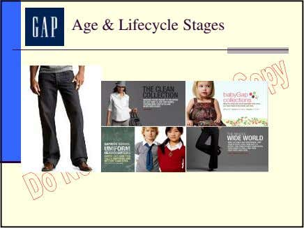 Age & Lifecycle Stages