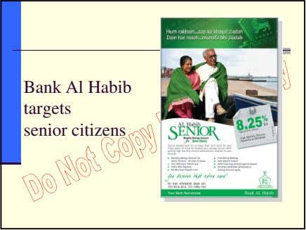 Bank Al Habib targets senior citizens