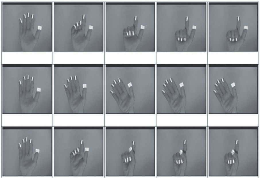 2.3 Vision Based Hand Gesture Recognition 13 Fig. 2.10  Gesture tracking using coloured finger tips of