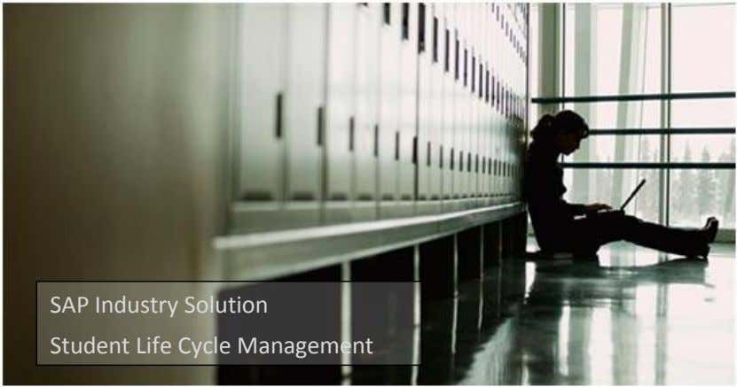 SAP Industry Solution Student Life Cycle Management