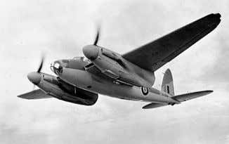 during and after the 2nd World War. Pictured is a WW2 De Havilland Mosquito – built