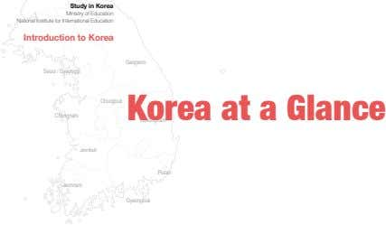 Study in Korea Ministry of Education National Institute for International Education Introduction to Korea Gangwon