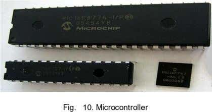 10. Microcontroller Fig.