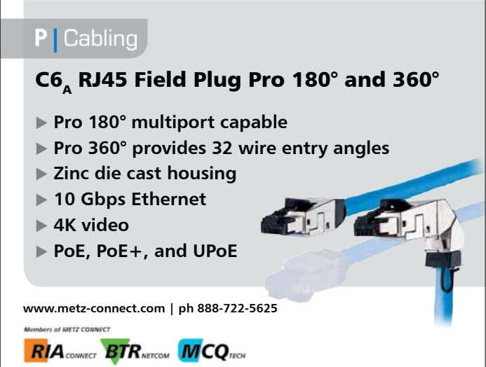 C6 A RJ45 Field Plug Pro 180° and 360°  Pro 180° multiport capable 