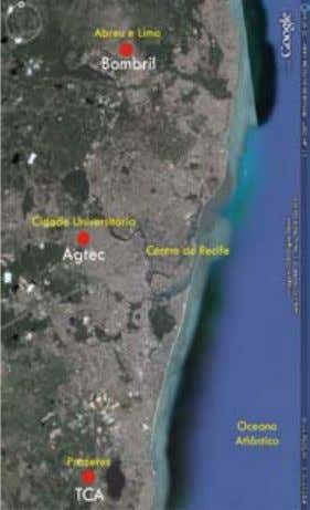 do Recife. Imagem capturada do Google Earth, 2009. TCA: a forma a partir do sistema estrutural
