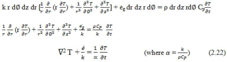 and the equation is known as Fourier Field Equation . hus the Laplacian operator is, Fig.