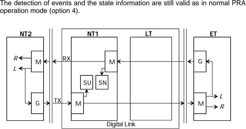 The detection of events and the state information are still valid as in normal PRA