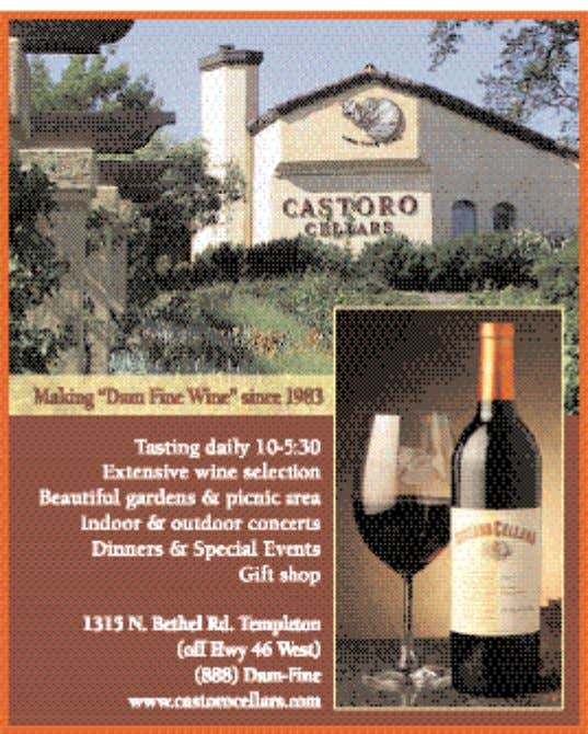call (805) 237-2370, email tomr1000@yahoo.com or visit the website at www.valdemosa.com. 15 www.winecountrythisweek.com