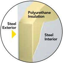 Polyurethane Insulation Steel Exterior Steel Interior