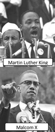 Martin Luther King Malcom X