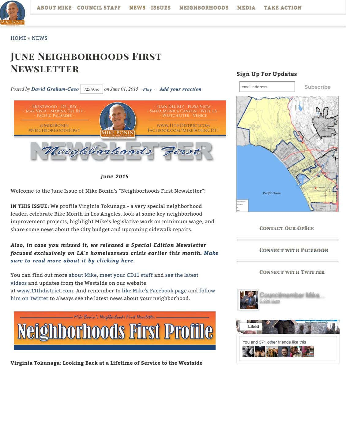 ABOUTABOUT MIKEMIKE COUNCILCOUNCIL STAFFSTAFF NEWSNEWS ISSUESISSUES NEIGHBORHOODSNEIGHBORHOODS MEDIAMEDIA TAKETAKE