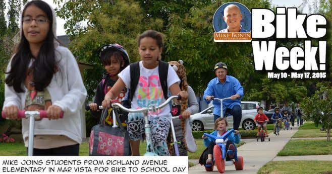 Richland Richland Avenue Avenue Elementary Elementary Bike Bike Week Week was was held held in in