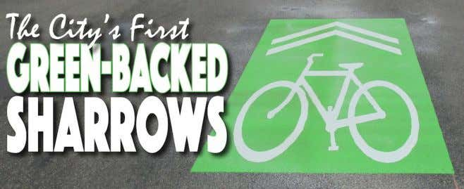 "Sharrows"" Installed Installed in in Venice Venice On On May May 29, 29, a a crew"
